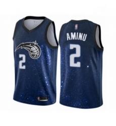 Mens Orlando Magic 2 Al Farouq Aminu Authentic Blue Basketball Jersey City Edition