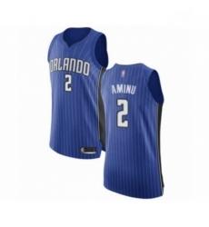 Mens Orlando Magic 2 Al Farouq Aminu Authentic Royal Blue Basketball Jersey Icon Edition