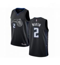 Mens Orlando Magic 2 Jarell Martin Authentic Black Basketball Jersey City Edition