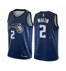 Mens Orlando Magic 2 Jarell Martin Authentic Blue Basketball Jersey City Edition