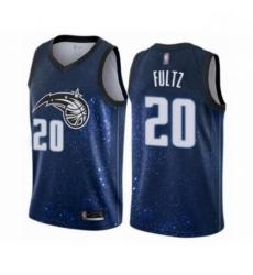 Mens Orlando Magic 20 Markelle Fultz Authentic Blue Basketball Jersey City Edition