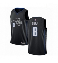 Mens Orlando Magic 8 Terrence Ross Authentic Black Basketball Jersey City Edition