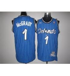 Nike NBA Orlando Magic 1 Tracy McGrady Blue Throwback Swingman Jersey