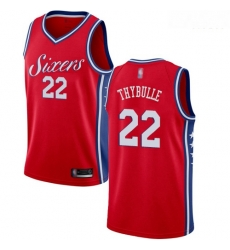 76ers #22 Mattise Thybulle Red Basketball Swingman Statement Edition Jersey