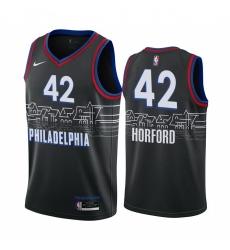 Men Nike Philadelphia 76ers 42 Al Horford Black NBA Swingman 2020 21 City Edition Jersey