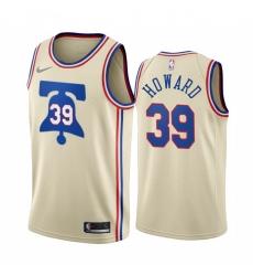 Men Philadelphia 76ers 39 Dwight Howard Cream NBA Swingman 2020 21 Earned Edition Jersey