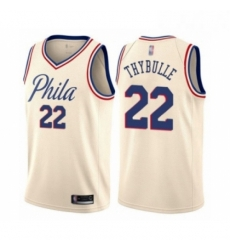 Mens Philadelphia 76ers 22 Mattise Thybulle Authentic Cream Basketball Jersey City Edition