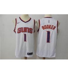 Men New Suns 1 Devin Booker White Nike Swingman Jersey