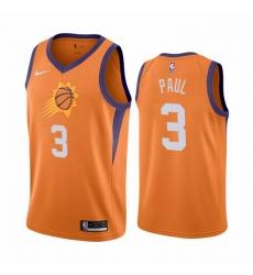 Men Phoenix Suns Chris Paul 3 2020-21 Association Edition Orange Jersey