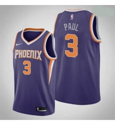 Men Phoenix Suns Chris Paul 3 2020-21 Association Edition Purple Jersey