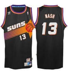 Mens Adidas Phoenix Suns 13 Steve Nash Swingman Black Throwback NBA Jersey