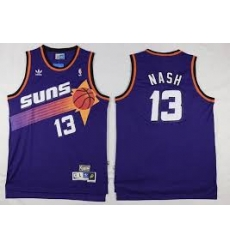Mens Adidas Phoenix Suns 13 Steve Nash Swingman Purple Throwback NBA Jersey