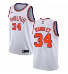 Mens Nike Phoenix Suns 34 Charles Barkley Swingman NBA Jersey Association Edition