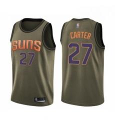 Mens Phoenix Suns 27 Jevon Carter Swingman Green Salute to Service Basketball Jersey