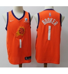 Suns  1 Devin Booker Orange Basketball Swingman Edition 2019 2020 Jersey
