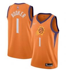 Suns  1 Devin Booker Orange Basketball Swingman Statement Edition 2019 2020 Jersey