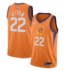 Suns  22 Deandre Ayton Orange Basketball Swingman Statement Edition 2019 2020 Jersey