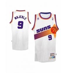 Suns #9 Dan Majerle White Swingman Throwback NBA Jersey