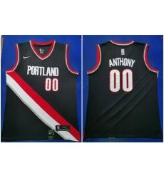 Blazers 00 Carmelo Anthony Black 2019 20 Nike Swingman Jersey
