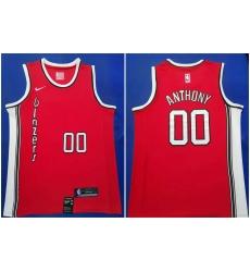 Blazers 00 Carmelo Anthony Red 2019 20 Nike Swingman Jersey