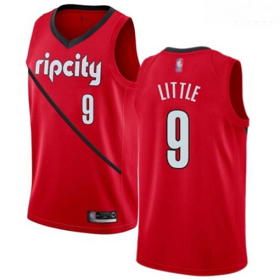 Blazers #9 Nassir Little Red Basketball Swingman Earned Edition Jersey