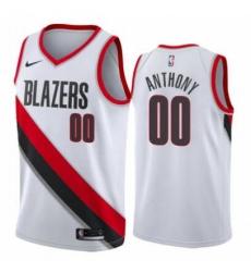 Men Nike Portland Trail Blazers 00 Carmelo Anthony Association White Swinman Jersey