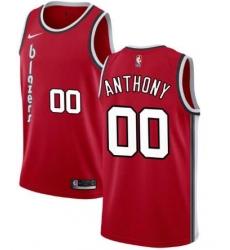 Men Nike Portland Trail Blazers 00 Carmelo Anthony Red City Red Swinman Jersey