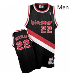 Mens Adidas Portland Trail Blazers 22 Clyde Drexler Authentic Black Throwback NBA Jersey