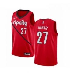 Mens Nike Portland Trail Blazers 27 Jusuf Nurkic Red Swingman Jersey Earned Edition