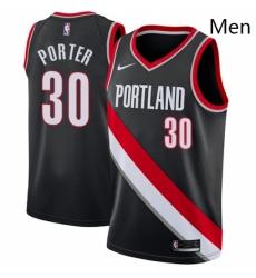 Mens Nike Portland Trail Blazers 30 Terry Porter Swingman Black Road NBA Jersey Icon Edition