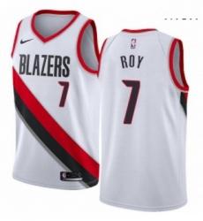 Mens Nike Portland Trail Blazers 7 Brandon Roy Swingman White Home NBA Jersey Association Edition