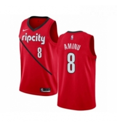 Mens Nike Portland Trail Blazers 8 Al Farouq Aminu Red Swingman Jersey Earned Edition