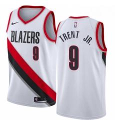 Mens Nike Portland Trail Blazers 9 Gary Trent Jr Swingman White NBA Jersey Association Edition