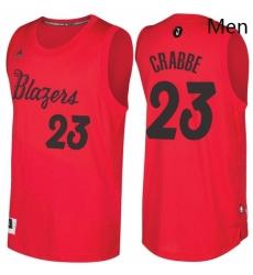 Mens Portland Trail Blazers 23 Allen Crabbe Red 2016 2017 Christmas Day NBA Swingman Jersey