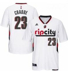 Portland Trail Blazers 23 Allen Crabbe Swingman Rip City Pride White Short Sleeve Jersey