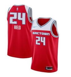 Kings  24 Buddy Hield Red Basketball Swingman City Edition 2019 20 Jersey