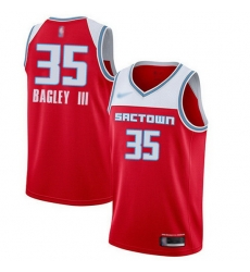 Kings  35 Marvin Bagley III Red Basketball Swingman City Edition 2019 20 Jersey