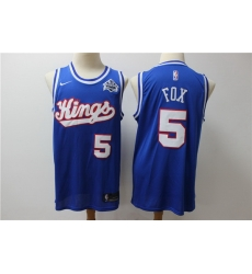 Kings 5 De Aaron Fox Blue Nike Swingman Jersey