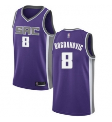Kings  8 Bogdan Bogdanovic Purple Basketball Swingman Icon Edition Jersey