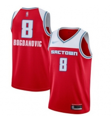 Kings  8 Bogdan Bogdanovic Red Basketball Swingman City Edition 2019 20 Jersey