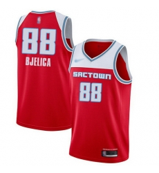 Kings  88 Nemanja Bjelica Red Basketball Swingman City Edition 2019 20 Jersey