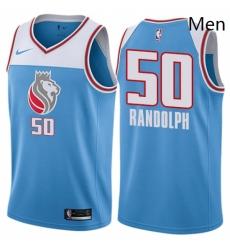 Mens Nike Sacramento Kings 50 Zach Randolph Authentic Blue NBA Jersey City Edition