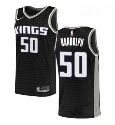 Mens Nike Sacramento Kings 50 Zach Randolph Swingman Black NBA Jersey Statement Edition