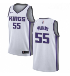 Mens Nike Sacramento Kings 55 Jason Williams Authentic White NBA Jersey Association Edition