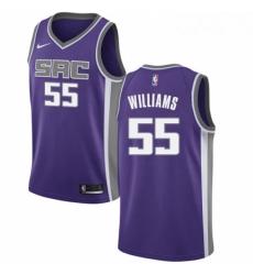 Mens Nike Sacramento Kings 55 Jason Williams Swingman Purple Road NBA Jersey Icon Edition