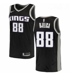 Mens Nike Sacramento Kings 88 Nemanja Bjelica Swingman Black NBA Jersey Statement Edition