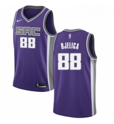 Mens Nike Sacramento Kings 88 Nemanja Bjelica Swingman Purple NBA Jersey Icon Edition