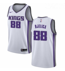 Mens Nike Sacramento Kings 88 Nemanja Bjelica Swingman White NBA Jersey Association Edition