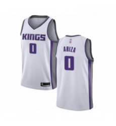 Mens Sacramento Kings 0 Trevor Ariza Authentic White Basketball Jersey Association Edition