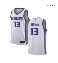 Mens Sacramento Kings 13 Dewayne Dedmon Authentic White Basketball Jersey Association Edition